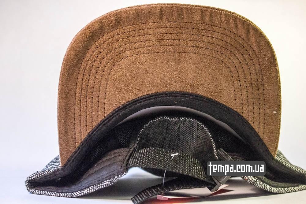 Пятипанельная кепка Supreme синяя с серым и коричневым козырьком купить пятипанельку_3