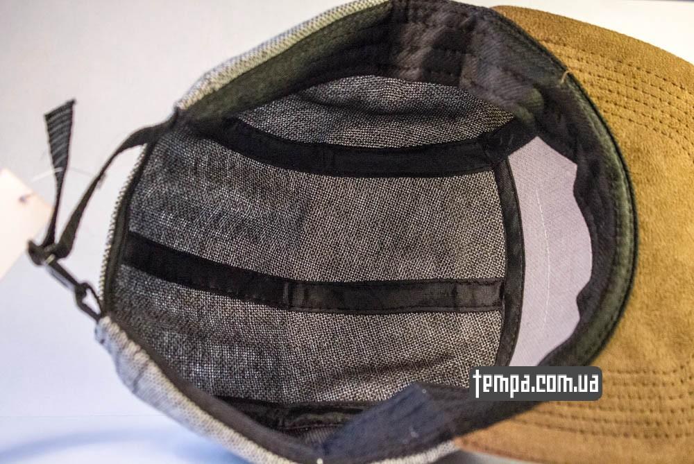Пятипанельная кепка Supreme Зеленая с серым и коричневым козырьком купить пятипанельку_3