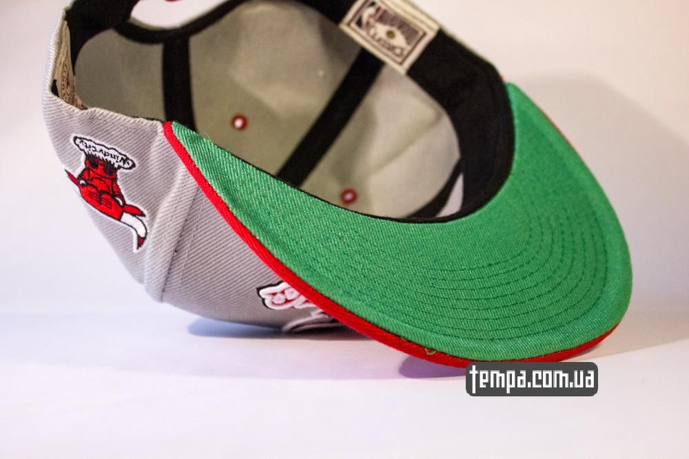 кепка snapback Chicago bulls серая басекетбол бейсбольная кепка с буйволом_4