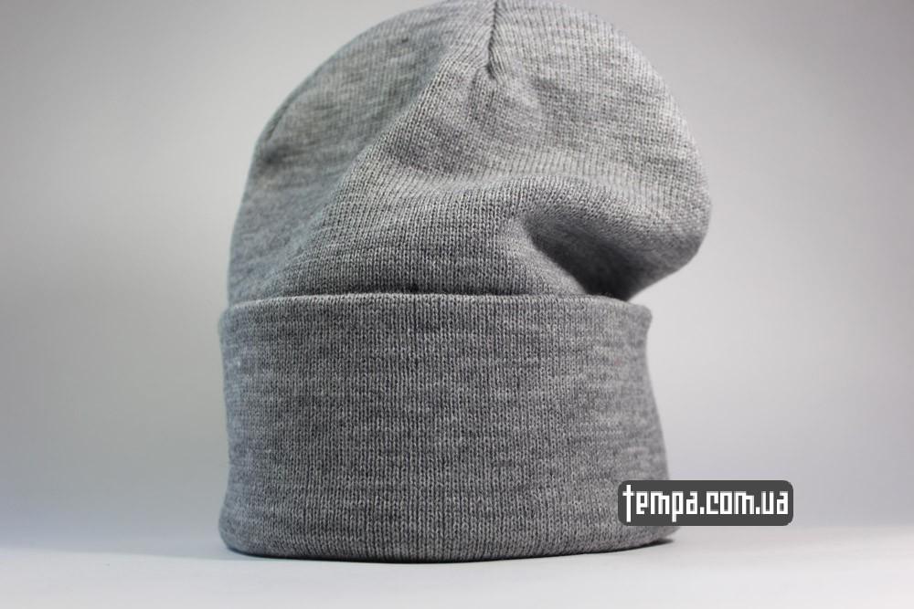 купить серую шапку Comme des FUCKDOWN теплую зимнюю унисекс шапка Украина