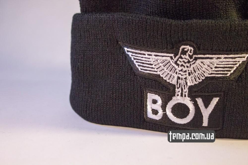купить шапку черную BOY London Eagle с орлом_1