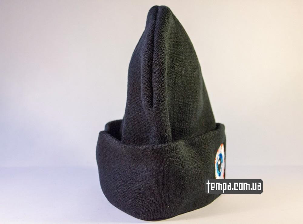 купить шапку черную MISHKA с глазом_1