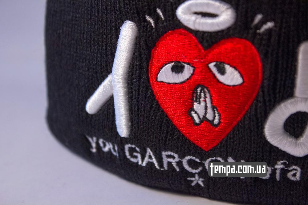 купить шапку черную SSUR PRAY you Garcon ofa bitch_1