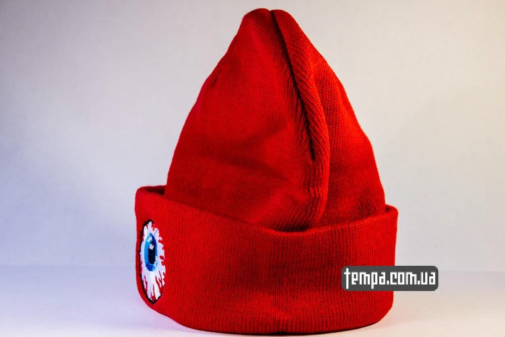 купить шапку красную MISHKA с глазом_1