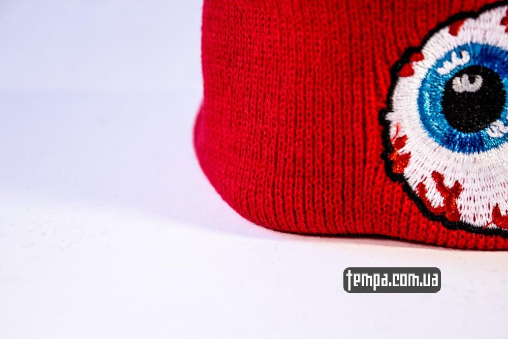 купить шапку красную MISHKA с глазом_4
