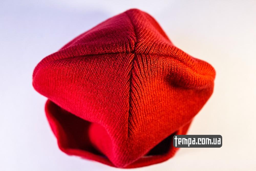 купить шапку красную OBEY с красным логотипом_2