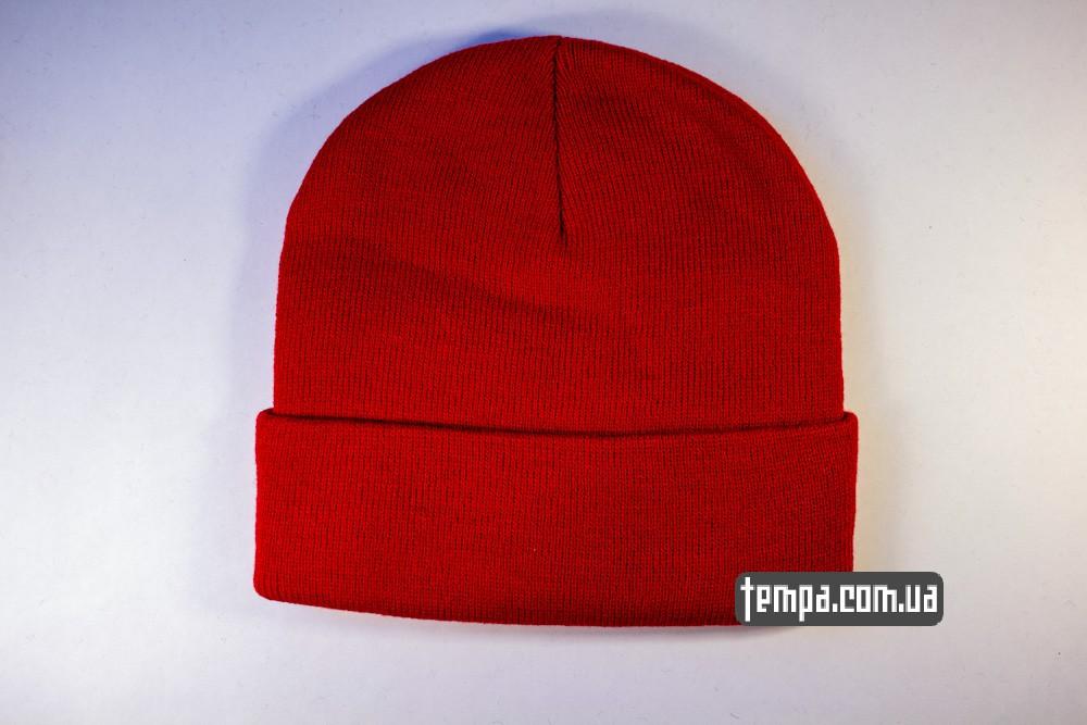 купить шапку красную OBEY с красным логотипом_3