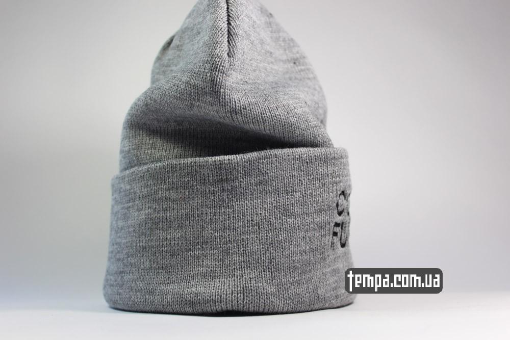 мужская зимняя шапка Comme des FUCKDOWN купить Украина серая