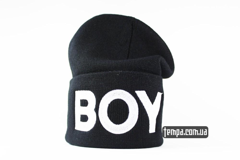 шапка BOY LONDON черная с надписью бой купить в украине