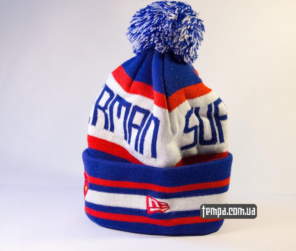 шапка SUPERMAN vintage синяя с белым винтажная купить в украине_1