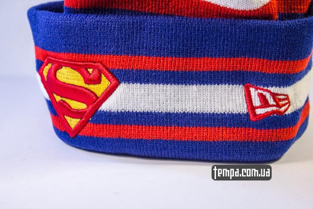 шапка SUPERMAN vintage синяя с белым винтажная купить в украине_4