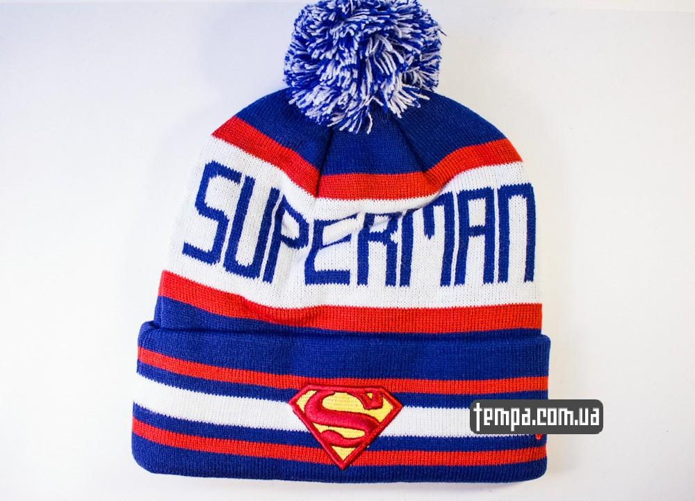 шапка SUPERMAN vintage синяя с белым винтажная купить в украине_6