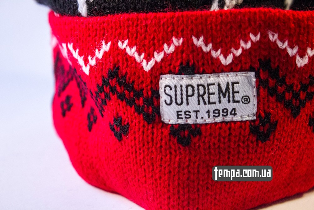 шапка SUPREME красная винтажная купить в украине_1