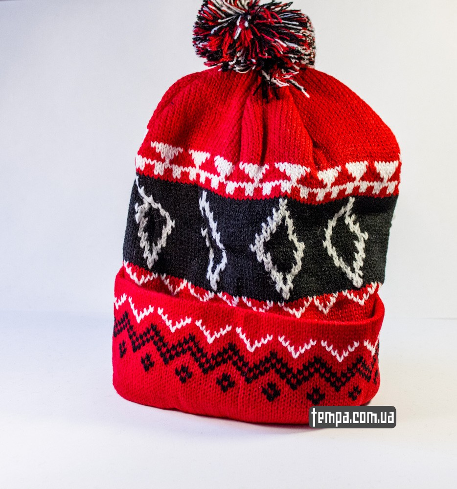 шапка SUPREME красная винтажная купить в украине_3