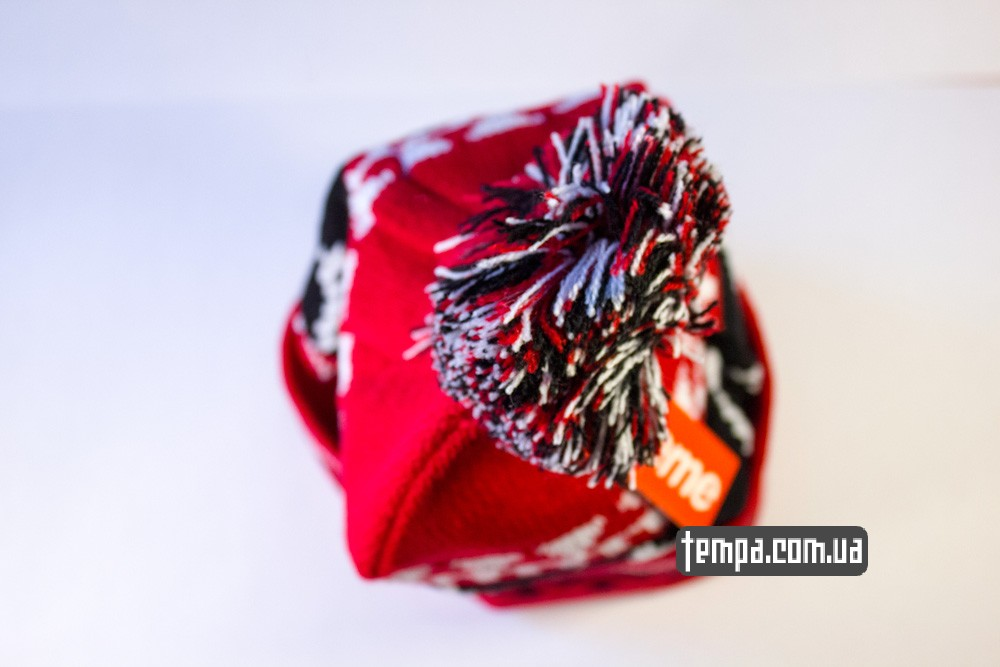 шапка SUPREME красная винтажная купить в украине_4