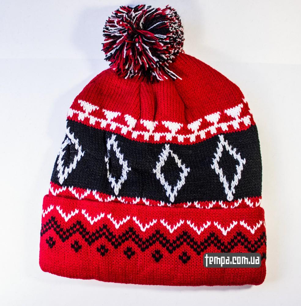 шапка SUPREME красная винтажная купить в украине_6