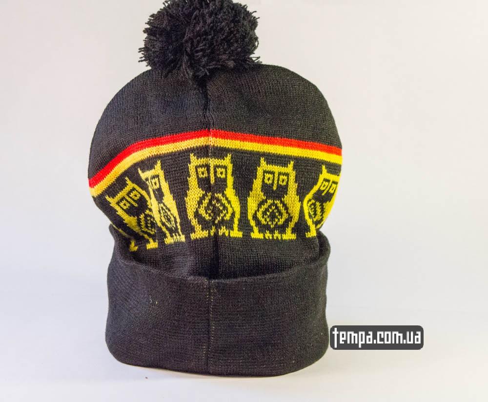 шапка Supreme черная с желтыми совами и с болабоном купить в Украине_3