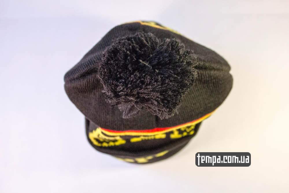 шапка Supreme черная с желтыми совами и с болабоном купить в Украине_5