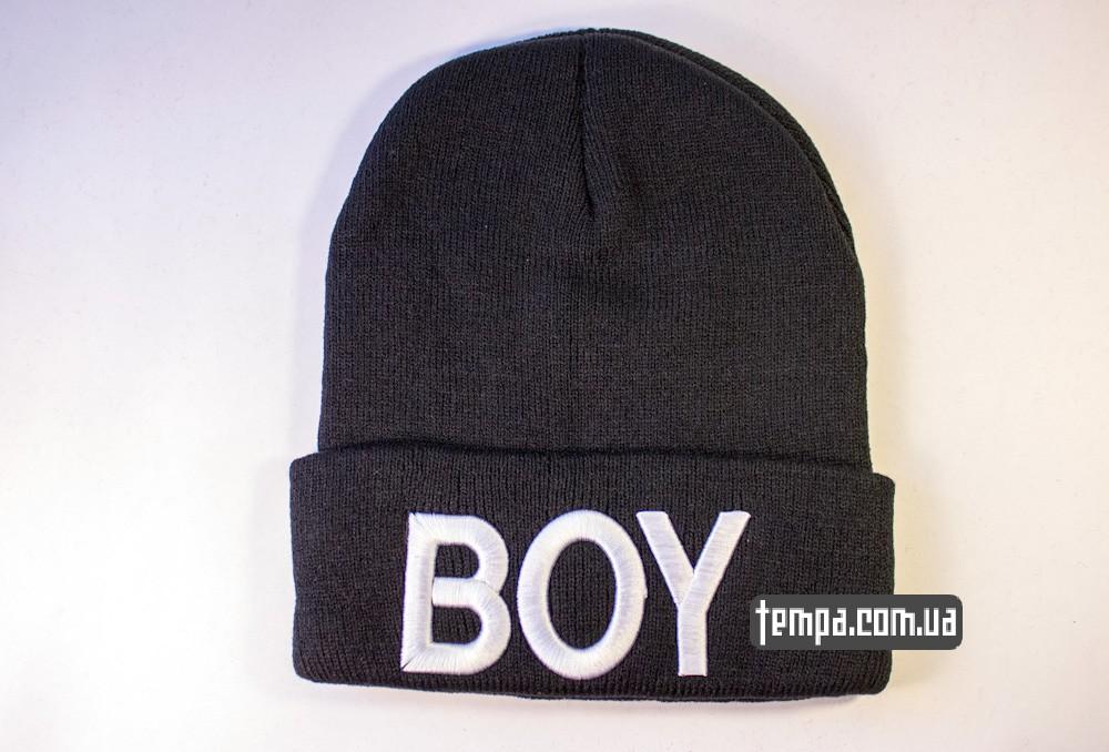 шапка черная BOY London оригинальная купить в украине_6
