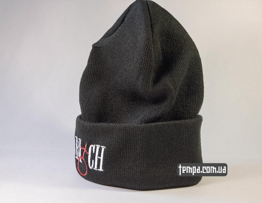шапка черная CLASSY BITCH с крестом купить в украине_1