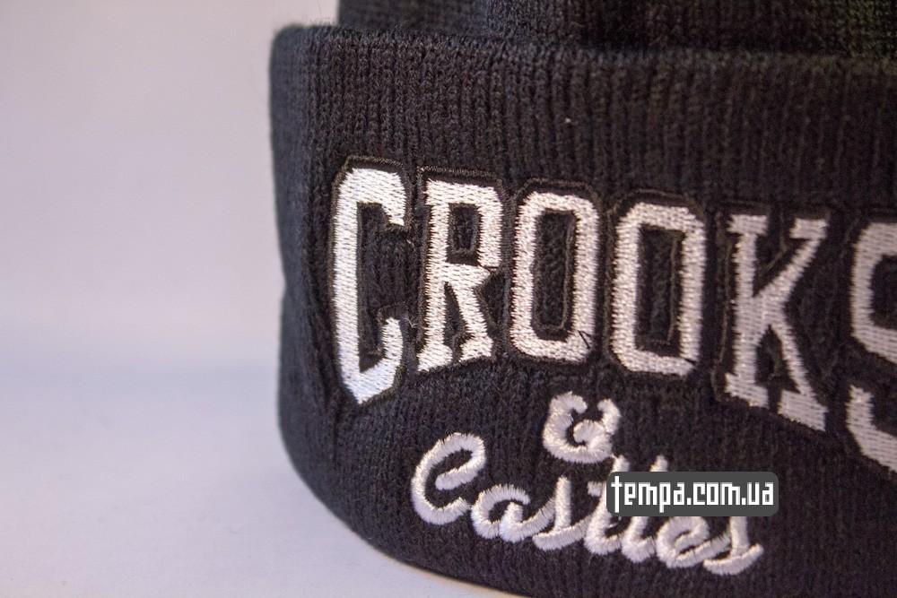 шапка черная Crooks and Castles купить в украине_5