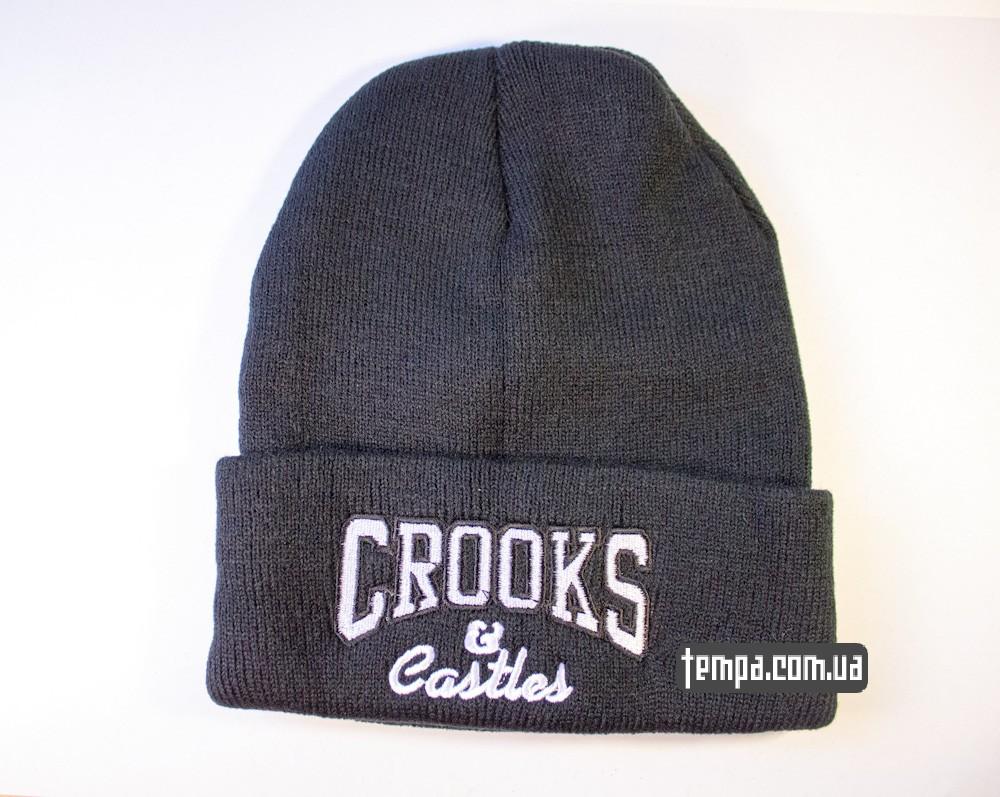 шапка черная Crooks and Castles купить в украине_6