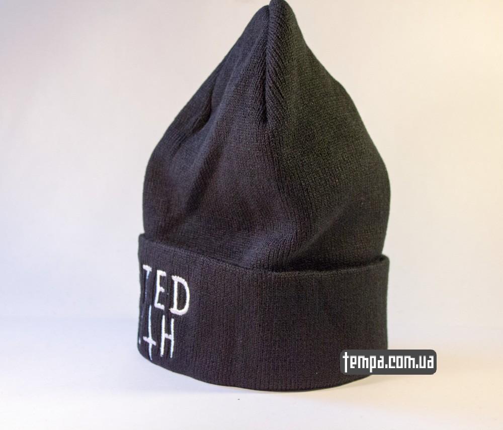 шапка черная wasted youth с крестом купить в украине_1