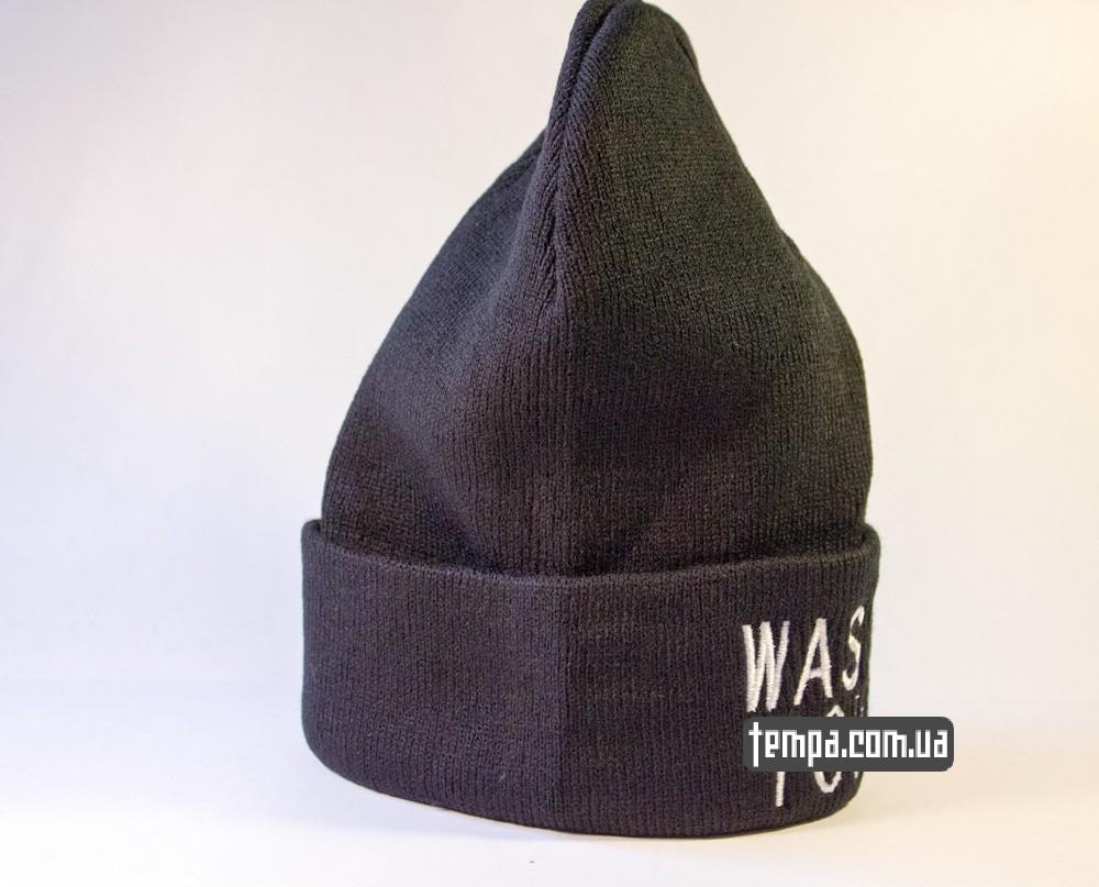 шапка черная wasted youth с крестом купить в украине_4