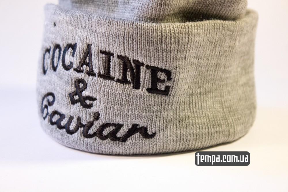 шапка серая Crooks and Castles Cocaine and Caviar купить в украине_3