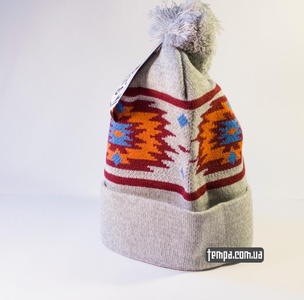 шапка серая OBEY оригинальная с балабоном купить в украине_1
