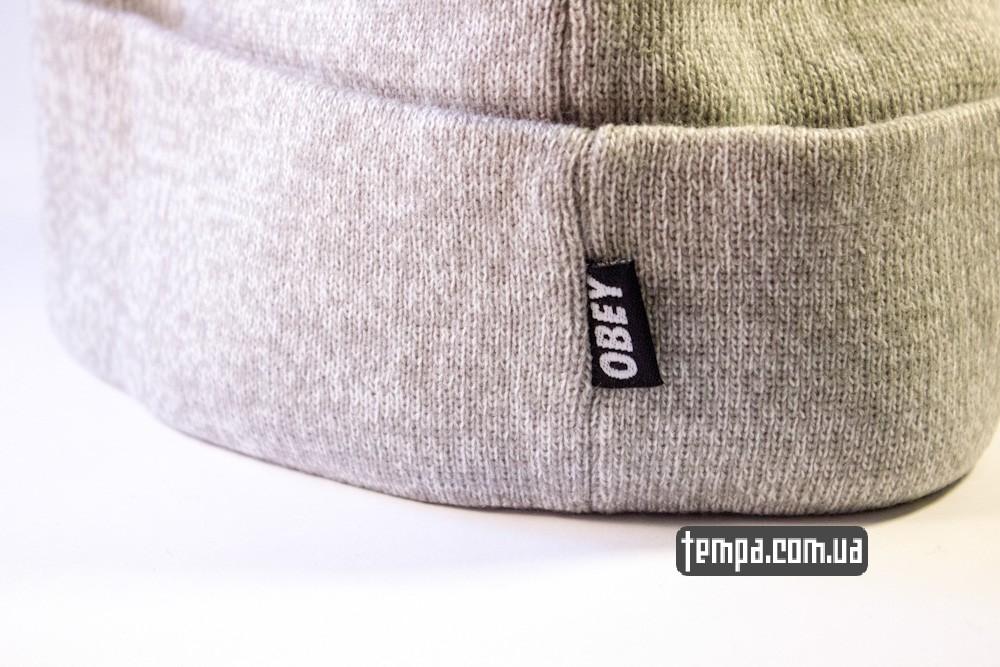 шапка серая OBEY оригинальная с балабоном купить в украине_3