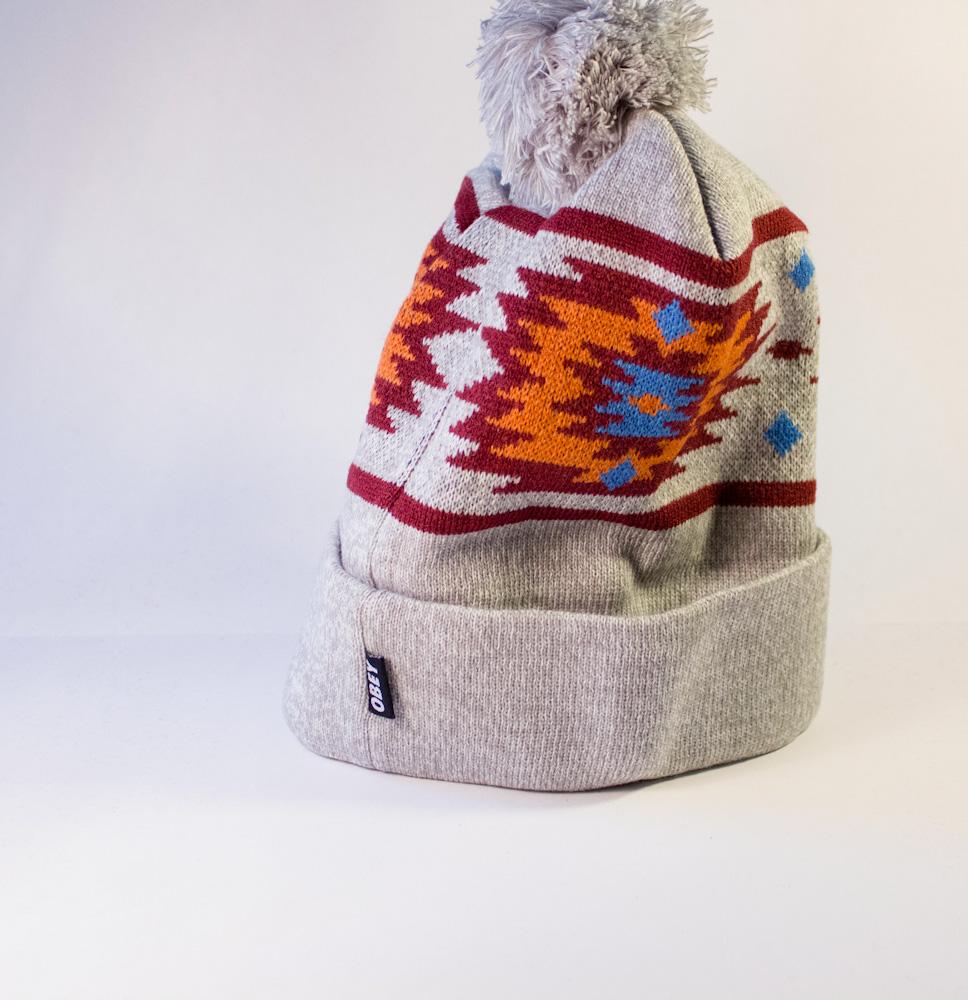 шапка серая OBEY оригинальная с балабоном купить в украине_4