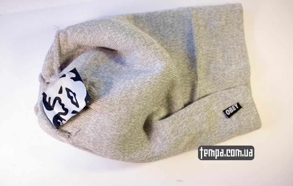 шапка серая OBEY оригинальная с балабоном купить в украине_6