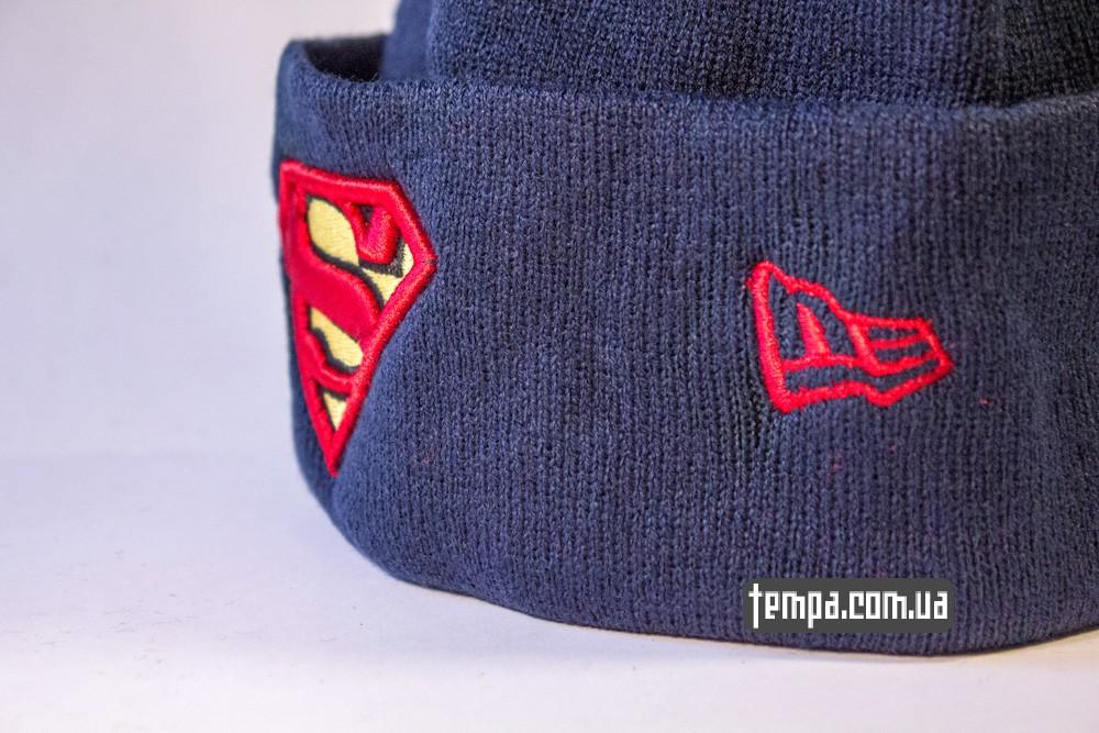 шапка темно синяя New Era Superman купить в Украине_2