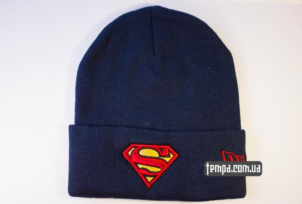 шапка темно синяя New Era Superman купить в Украине_5