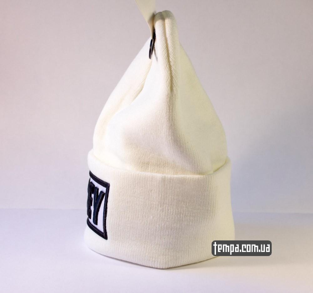 Купить зимнюю шапку OBEY белую оригинал в Украине_1