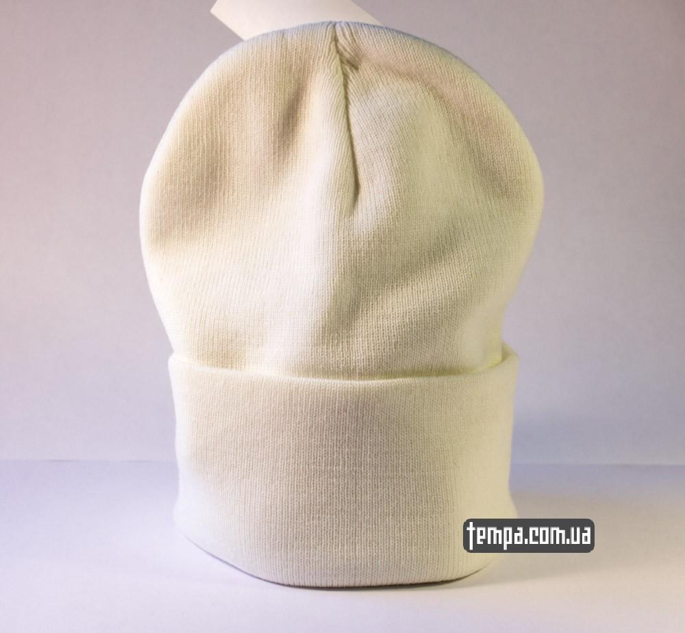 Купить зимнюю шапку OBEY белую оригинал в Украине_2