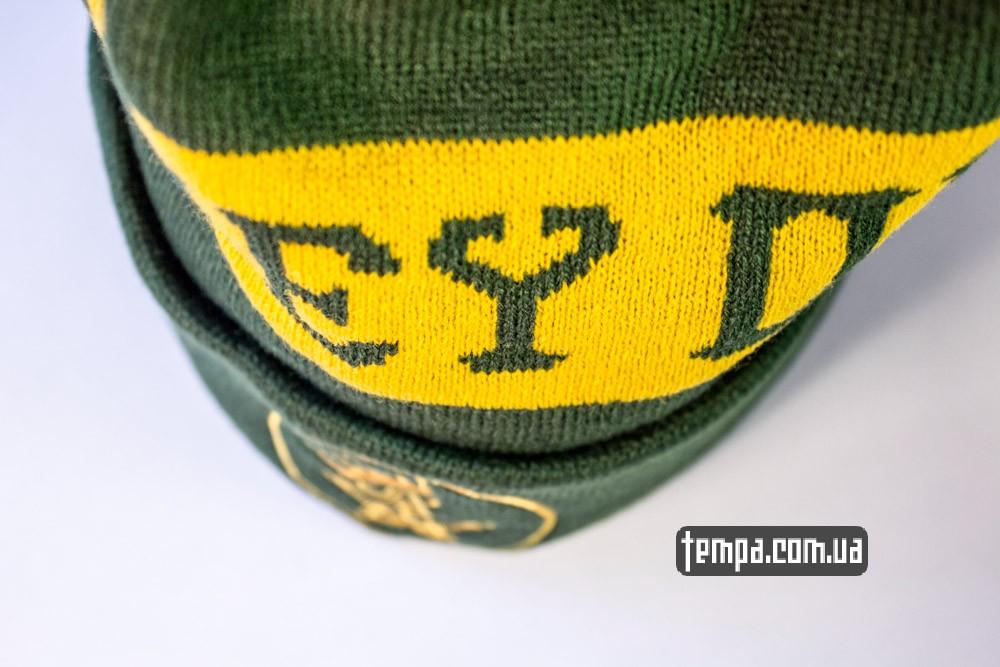 Зимняя шапка OBEY зеленая с балабоном купить оригинальную шапку обей в Украине_6