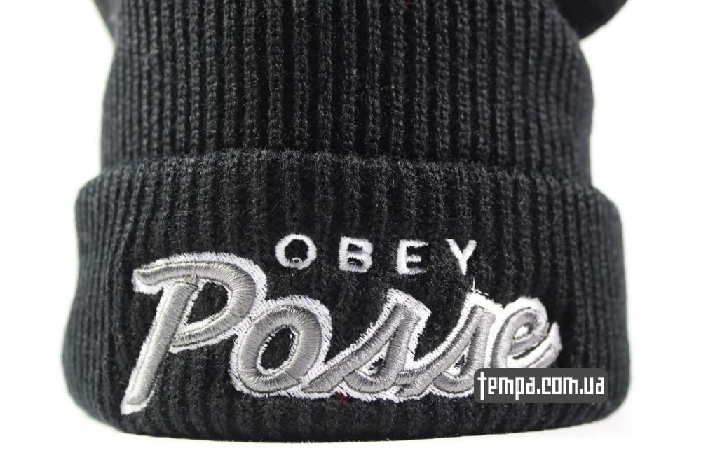 черная шапка obey Posse купить заказать в Украине