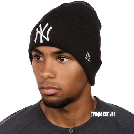 купить шапку зимнюю теплую NEW YORK YANKEES украина