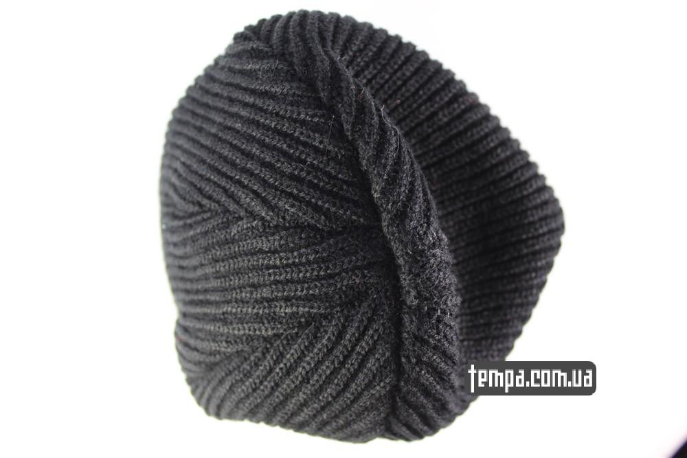 obey beanie posse черная шерстяная шапка купить в украине