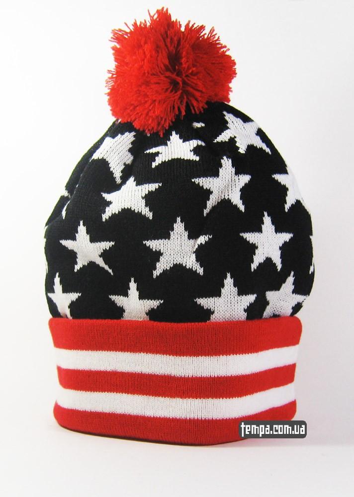 зимняя шапка Obey beanie с балабоном заказать оригинал в киеве