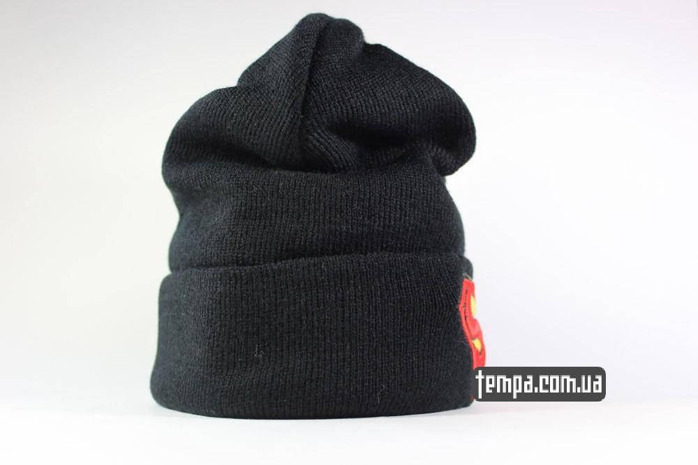 теплая зимняя шапка Superman New Era супермен купить в украине