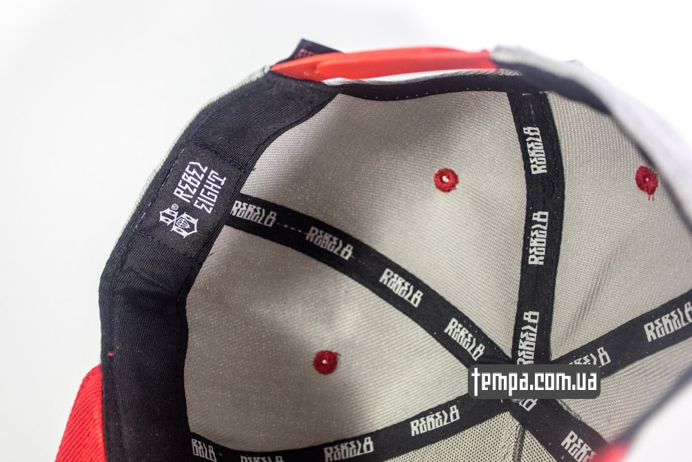 оригинал Rebel 8 украина кепка snapback Rebel 8 Rebel eight серая с красным козырьком купить в Украине