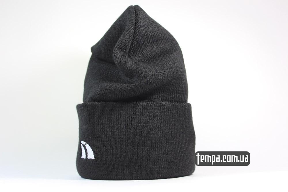 теплая зимняя шерстяная шапка черная comme togather купить в Украине