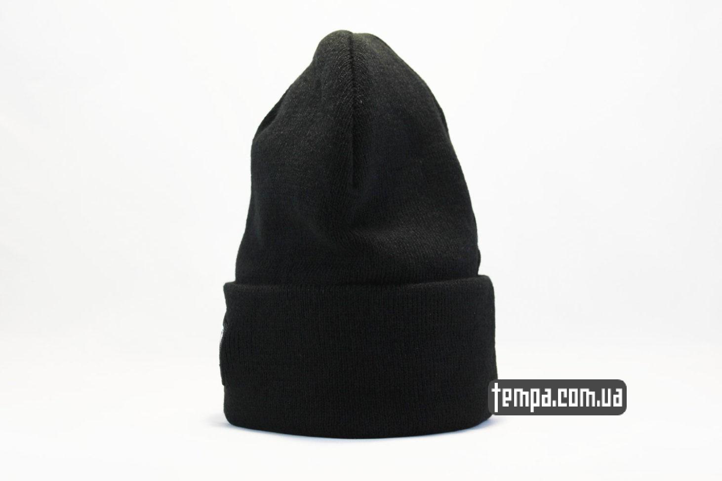 чисто черная шапка бини VANS ВЭНС off the wall black черная