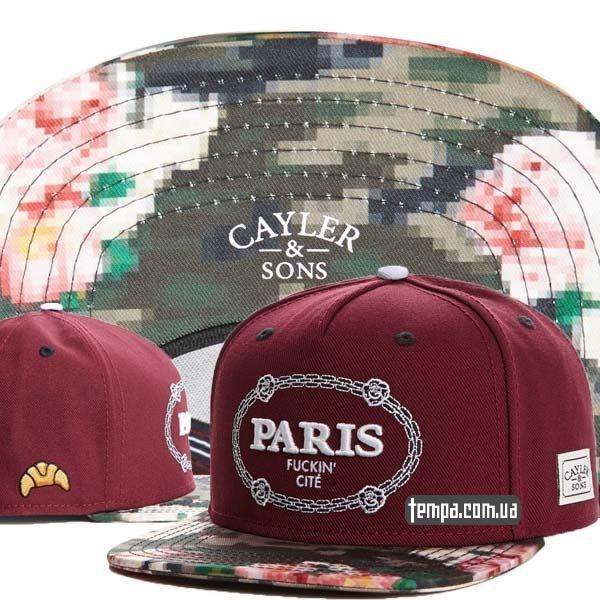 Cayler-Sons-PARIS-FUCKIN-font-b-CITY-b-font-snapback бордовая купить украина