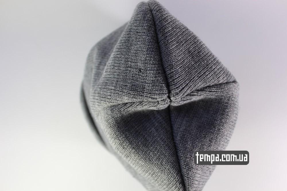 зимняя серая теплая мужская шапка VANS OFF THE WALL шапка бини