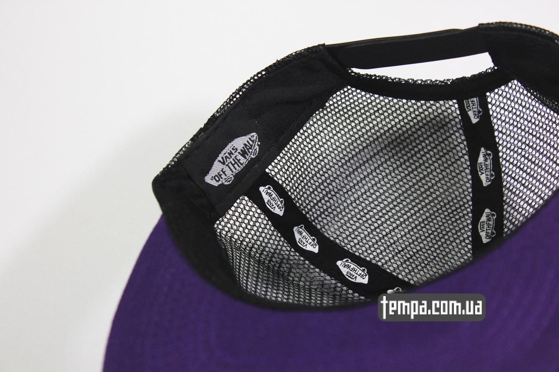 кепка бейсболка оригинальная украина венс одежда  Snapback VANS OFF THE WALL с сеточкой