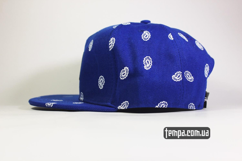 магазин бейсболок украина купить заказать кепка snapback STUSSY синяя голуюая oldschool